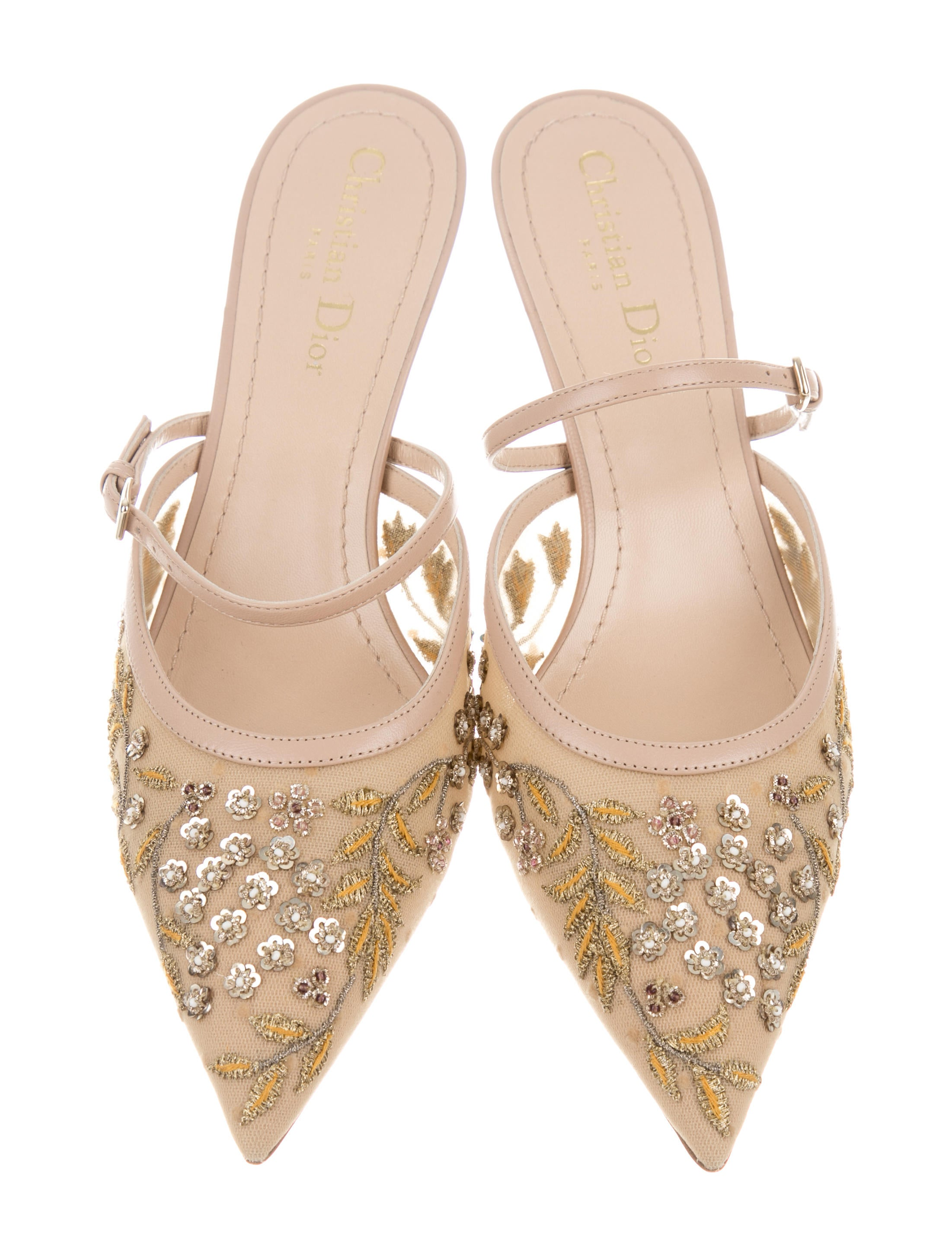 cheap price outlet sale countdown package sale online Christian Dior Dioreve Embellished Mules w/ Tags cheap sale best store to get outlet genuine trAkznqoC
