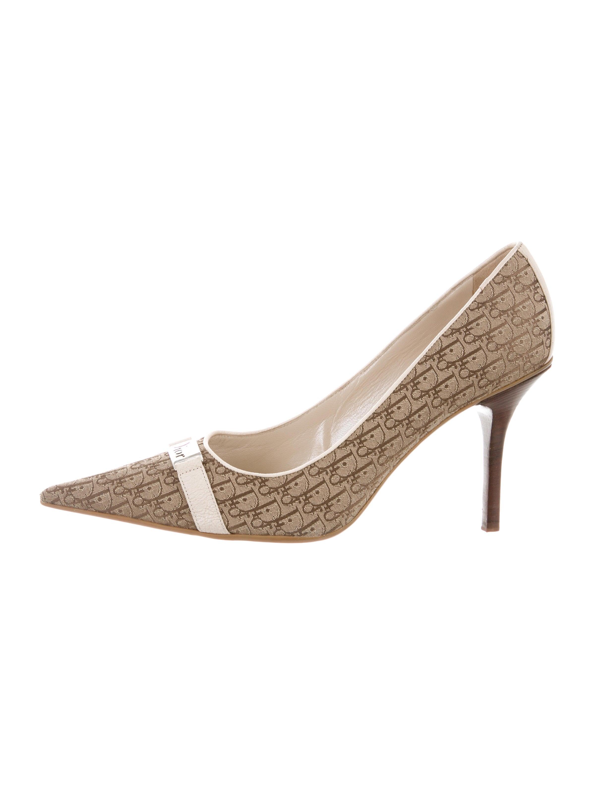 Christian Dior Diorissimo Peep-Toe Pumps cheap low price fee shipping 9rNjlUjm