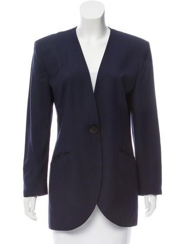 Christian Dior Structured Knit Blazer None