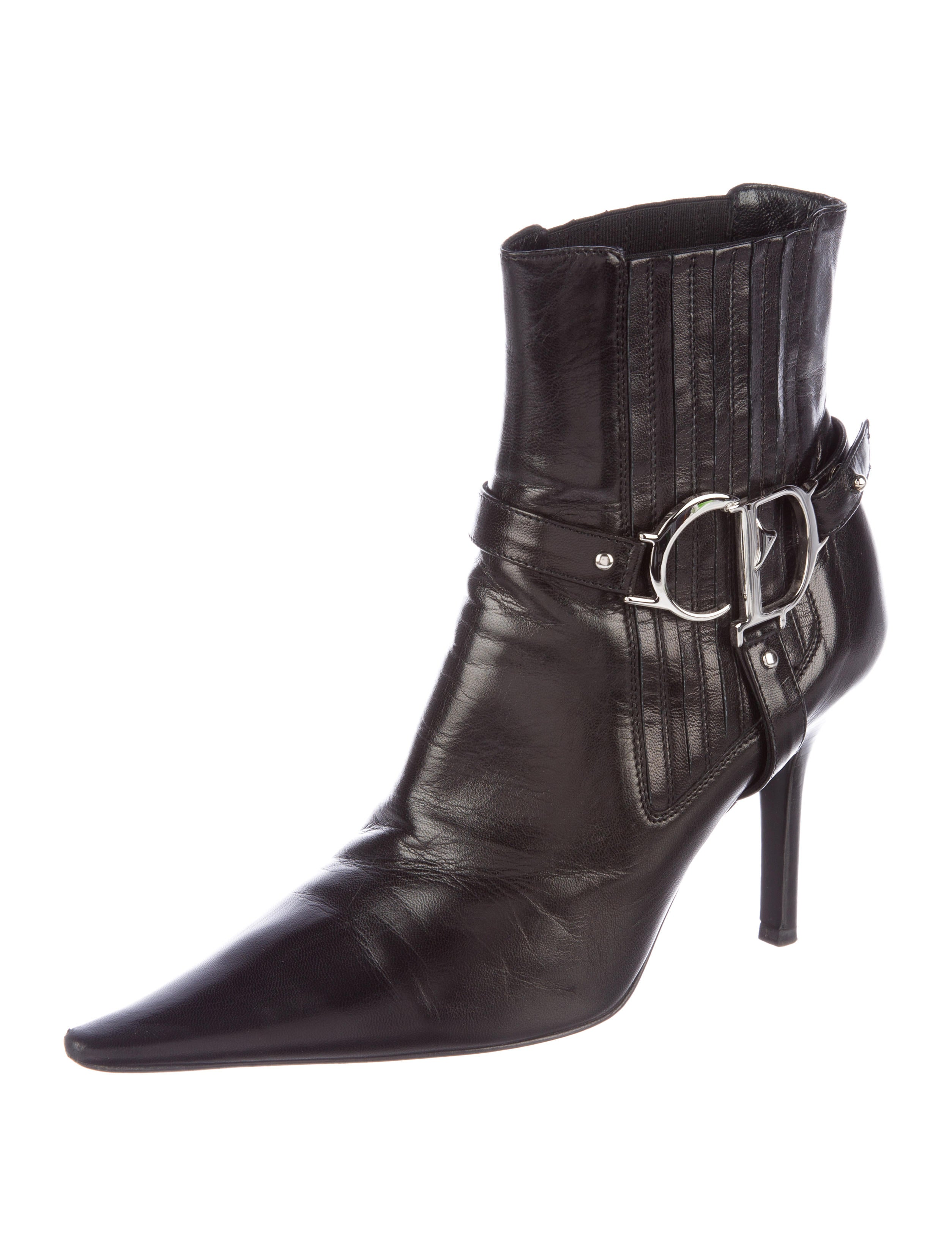 Christian Dior Logo Stirrup Booties clearance shop for genuine online fake for sale 2015 online buy cheap best sale hukEaW5Kuj