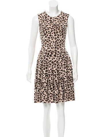Christian Dior Sleeveless Patterned Dress None
