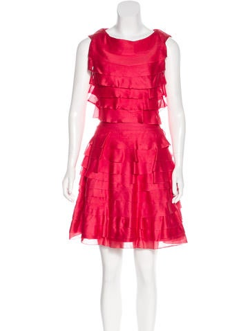 Christian Dior Silk Pleated Dress None