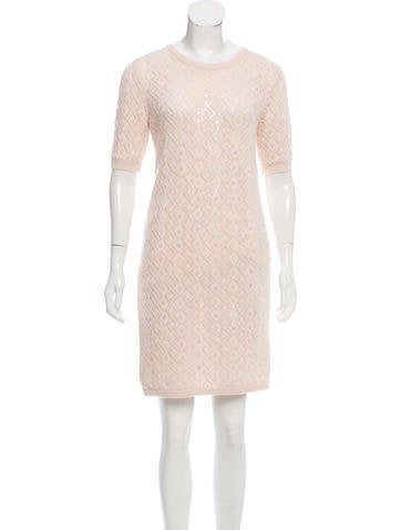 Christian Dior Embellished Open Knit Dress None