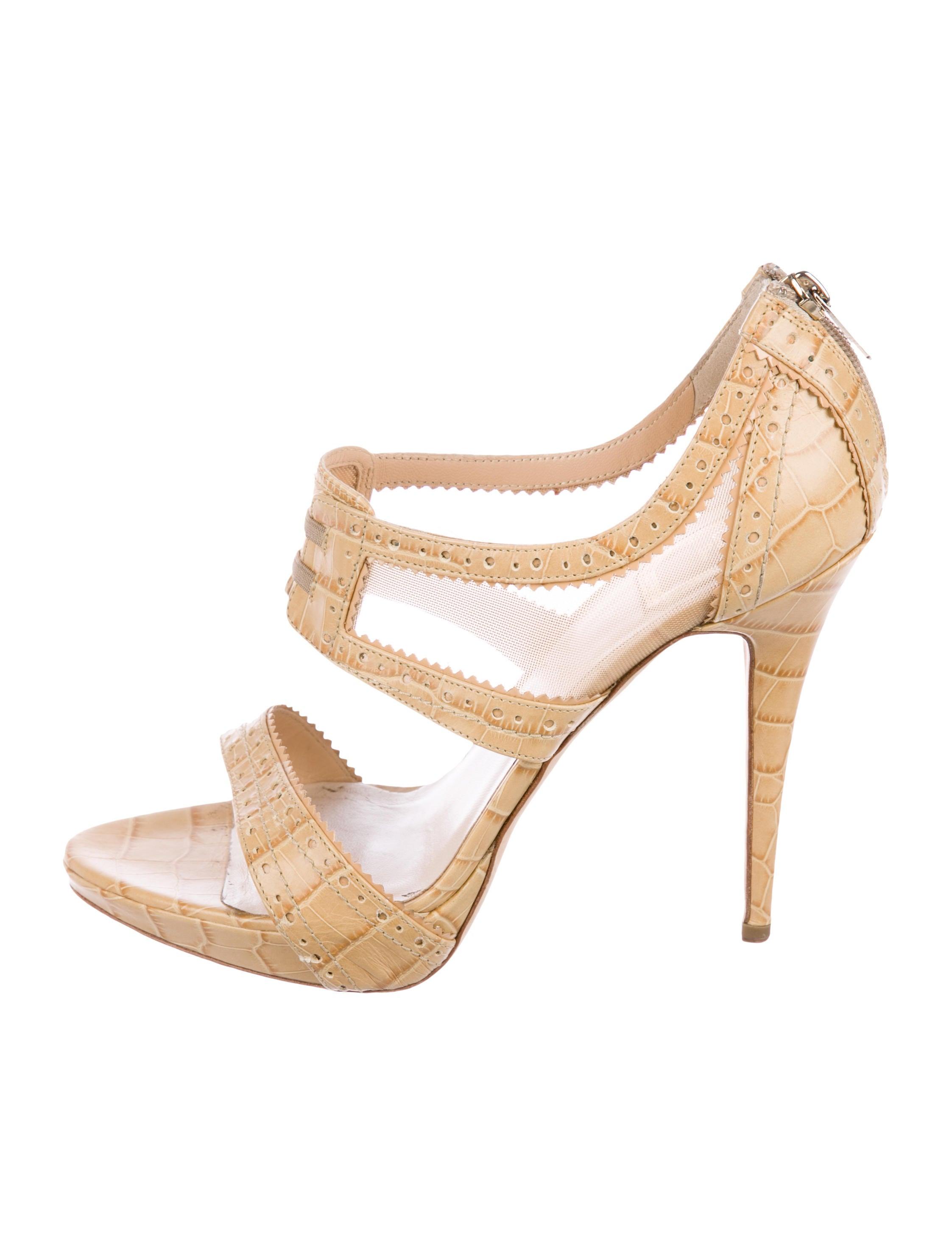 Christian Dior Bonnie Derby Leather Sandals discounts cheap price discount sneakernews nFUzwuAF