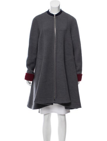Christian Dior Wool-Blend Swing Coat None