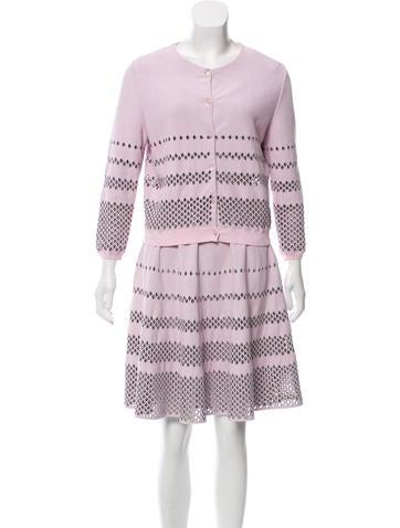 Christian Dior Cutout A-Line Skirt Suit None