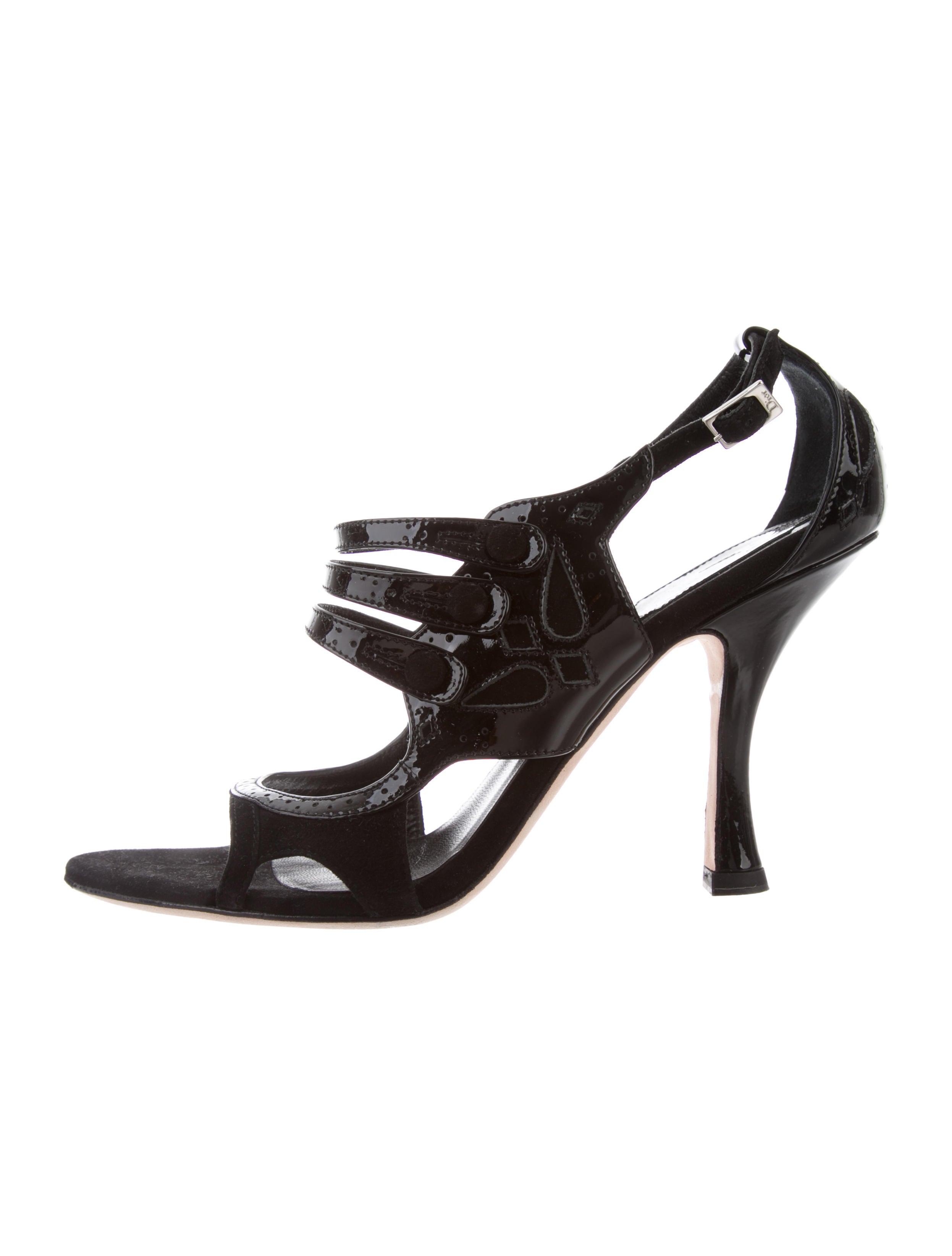 Christian Dior Brogue Cutout Sandals visit cheap online COBqo7
