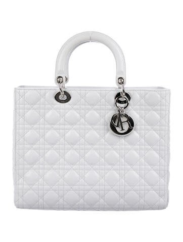 Christian Dior. Large Lady Dior Bag