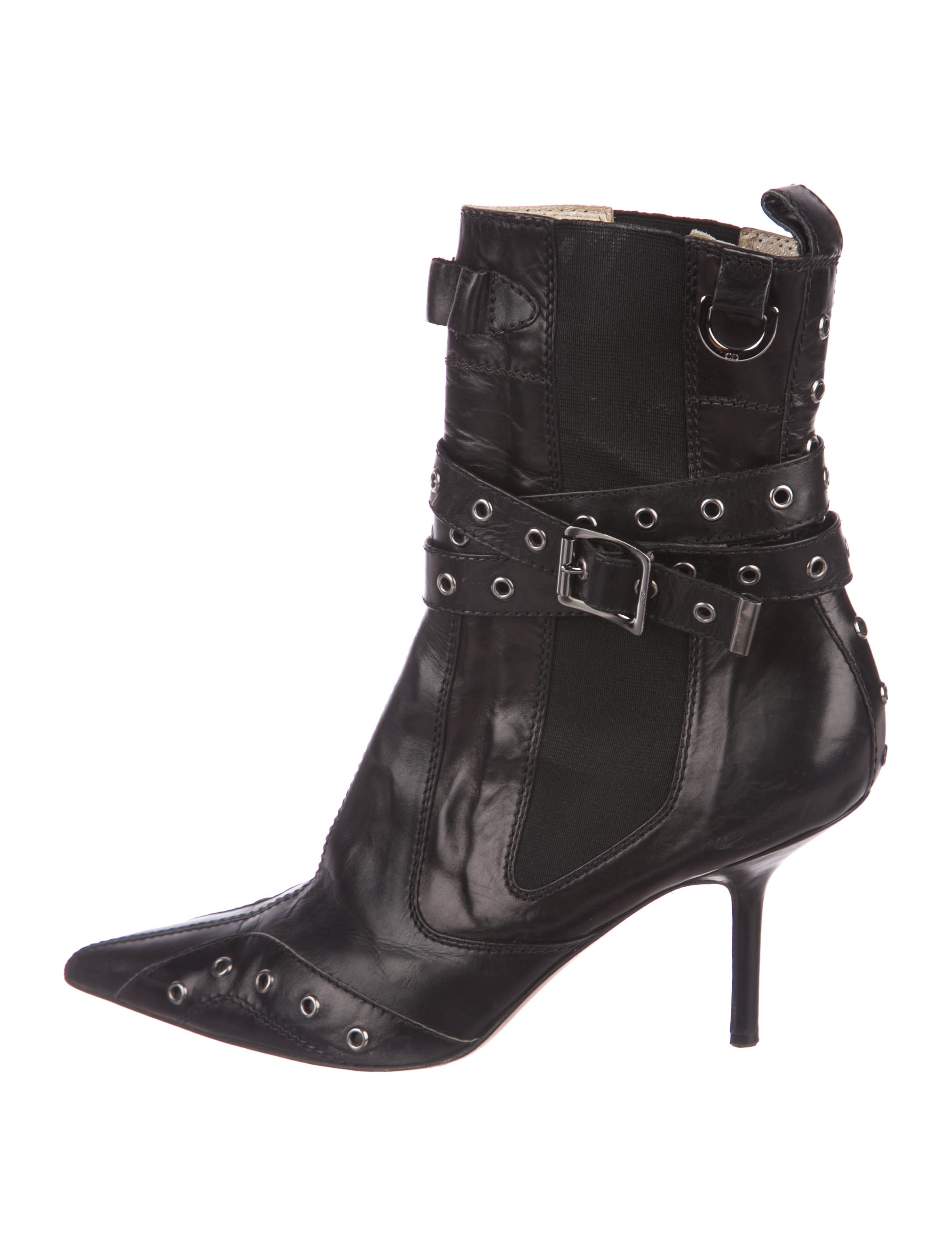 Christian Dior Leather Pointed-Toe Booties 2014 newest online finishline cheap online best place to buy discount geniue stockist pay with paypal online UZDkORcms