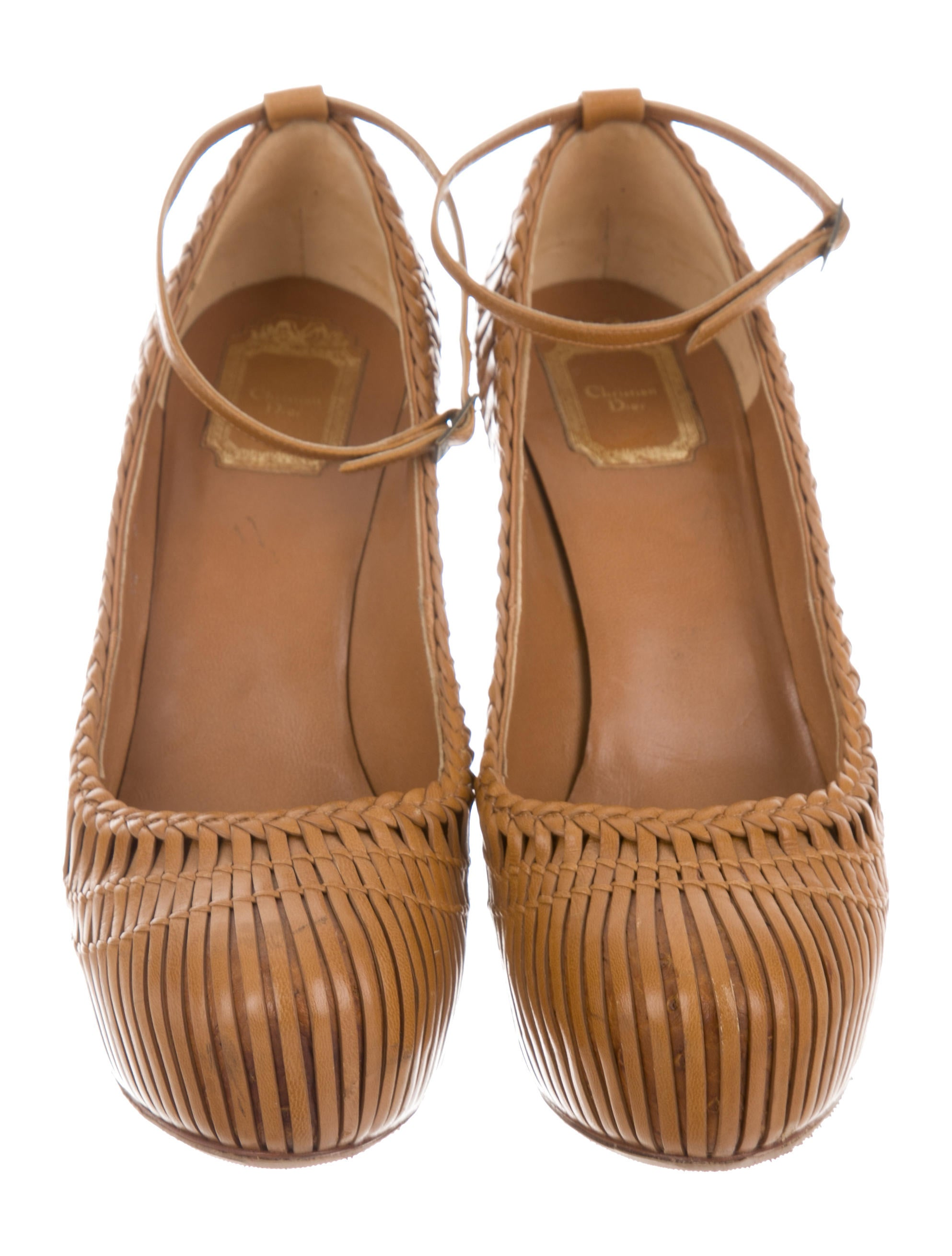 Christian Dior Ostrich-Trimmed Woven Pumps popular cheap price clearance Inexpensive 8s9yL6nC2M