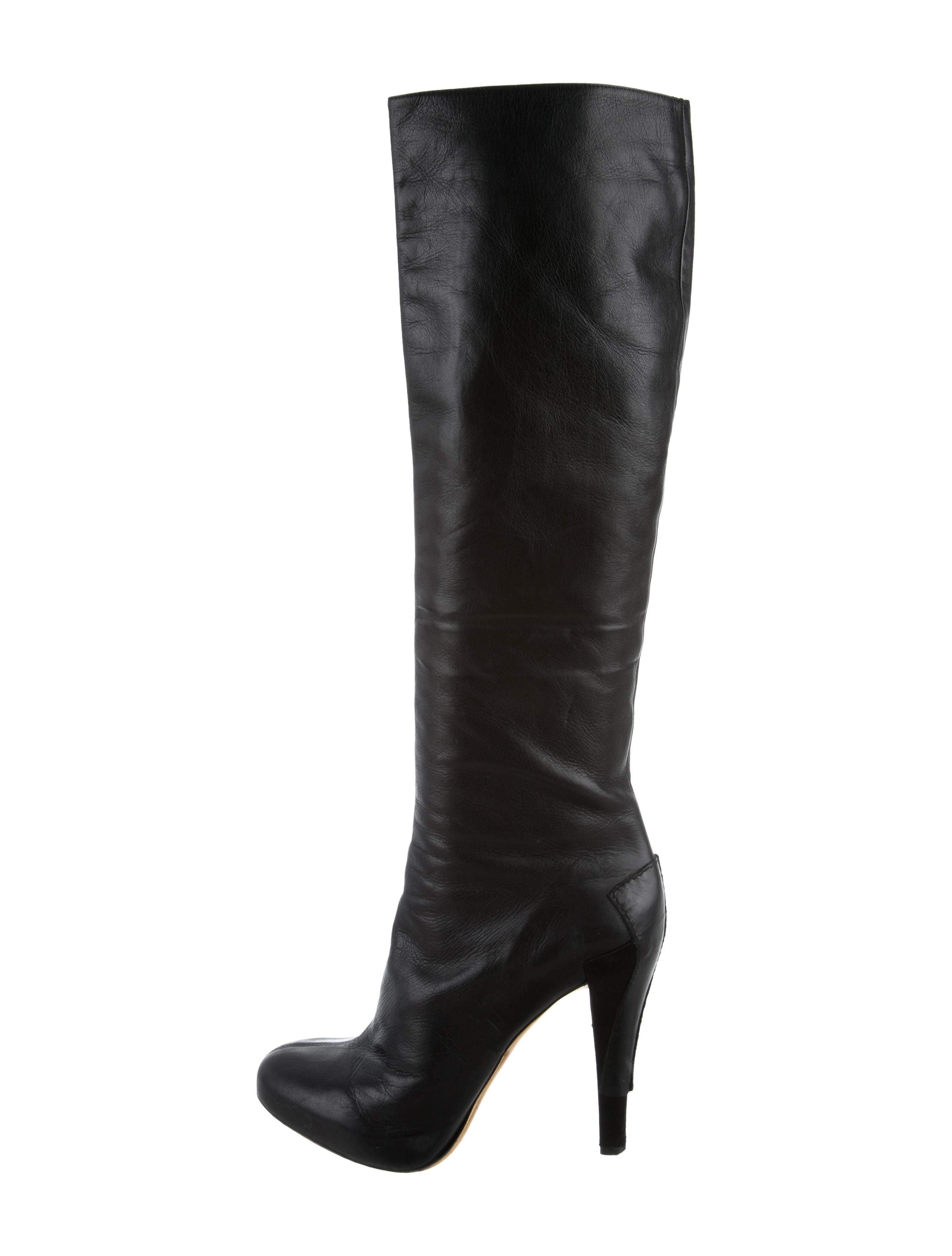 Christian Dior Leather Knee Boots buy cheap exclusive huge surprise free shipping low price fee shipping supply for sale sale real x1JjoHD