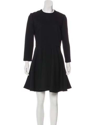 christian-dior-flounce-wool-dress by christian-dior
