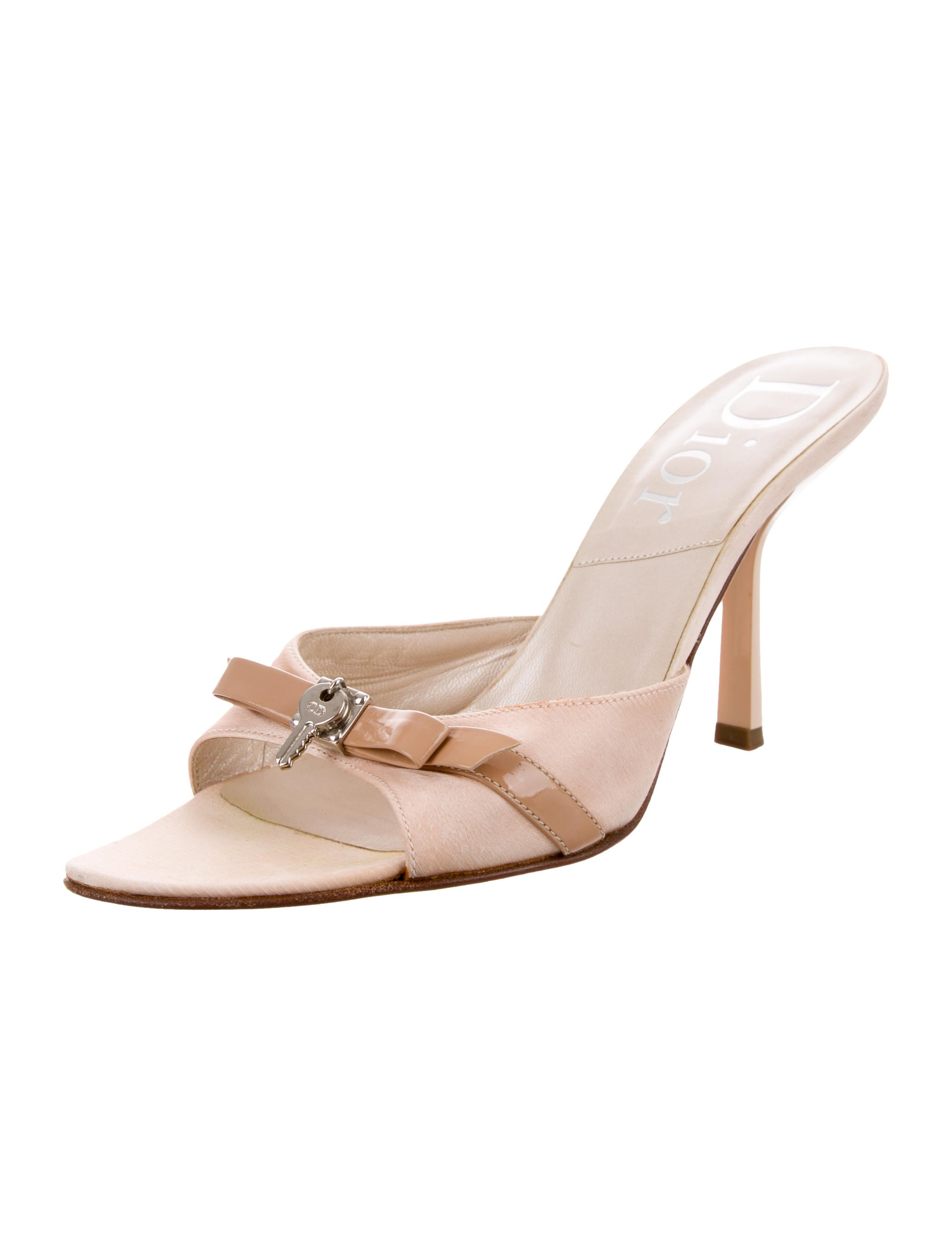 Christian Dior Satin Embellished Slide Sandals 2014 newest cheap sale 2014 get authentic for sale PqsF1rcq