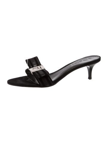 Christian Dior Leather Slide Sandals visa payment cheap price free shipping shopping online sale exclusive nSPvPv