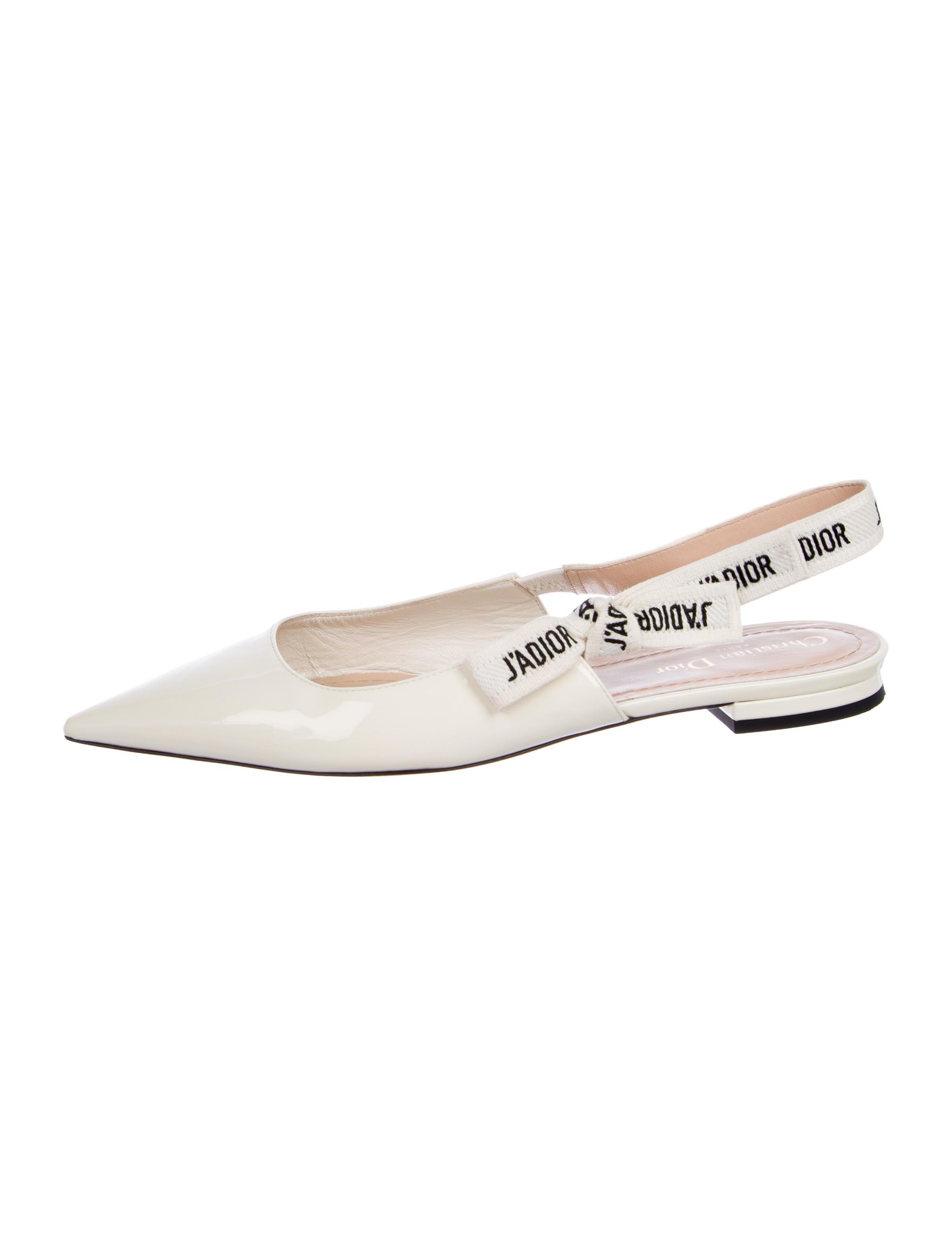 a2581de815 Christian Dior J'Adior Slingback Flats - Shoes - CHR78898 | The RealReal