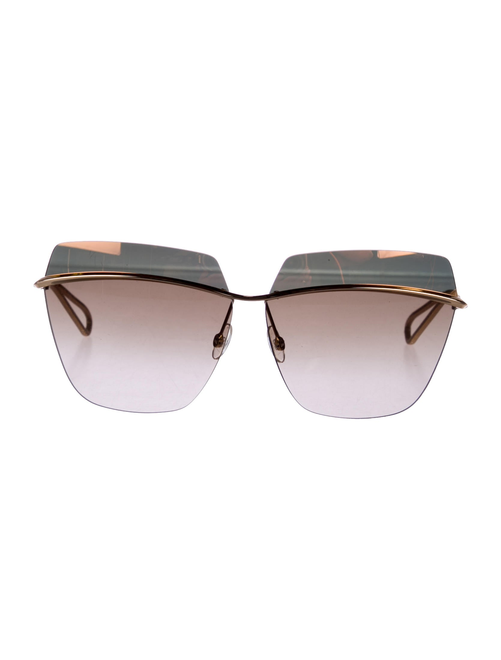 new collection affordable price separation shoes Christian Dior 2018 Metallic Rimless Sunglasses