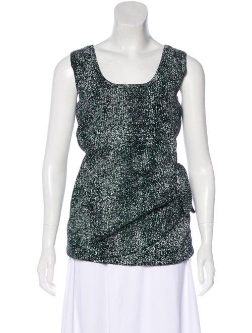 Christian Dior Textured Knit Sleeveless Top Green