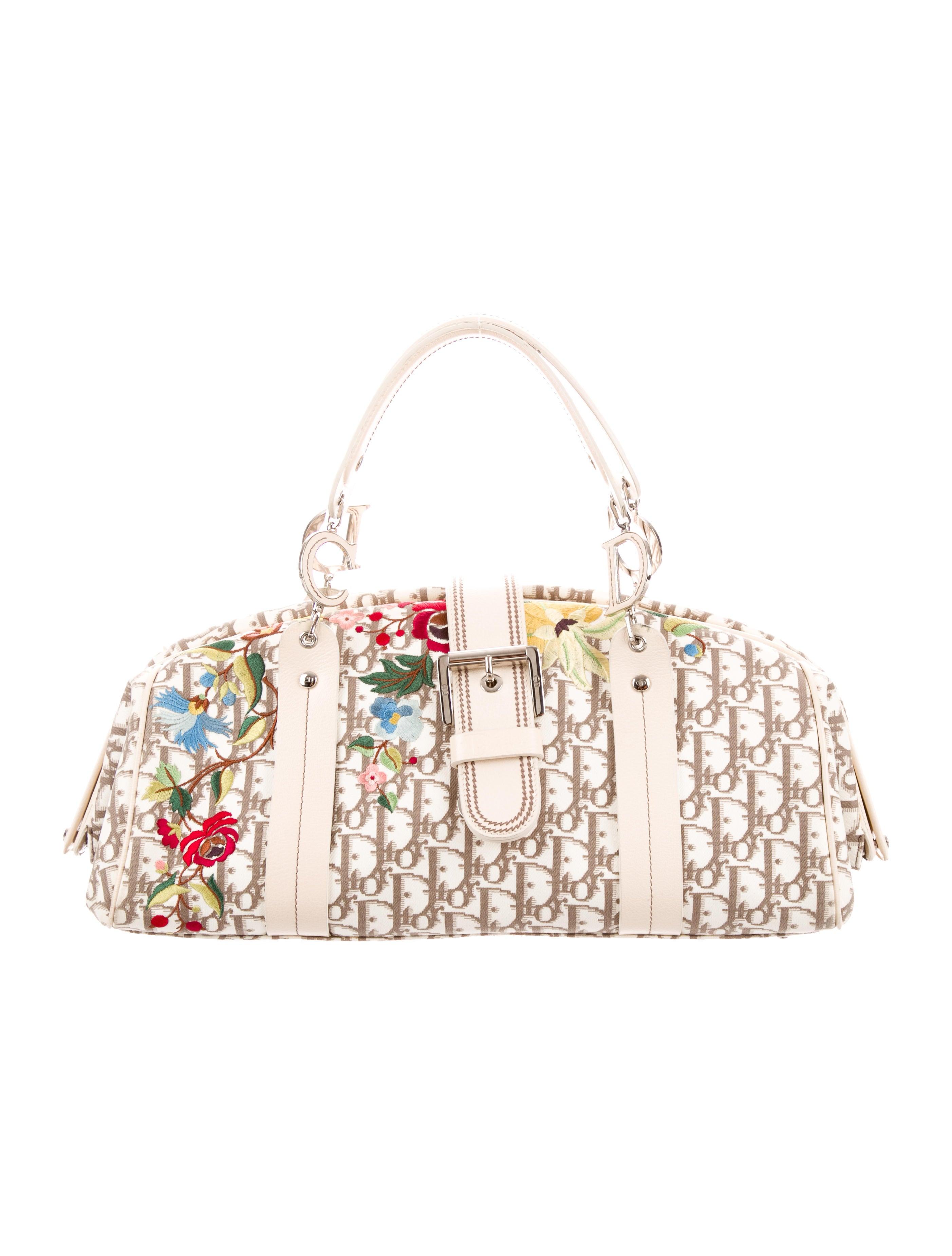 Embroidered Diorissimo Handle Bag by Christian Dior