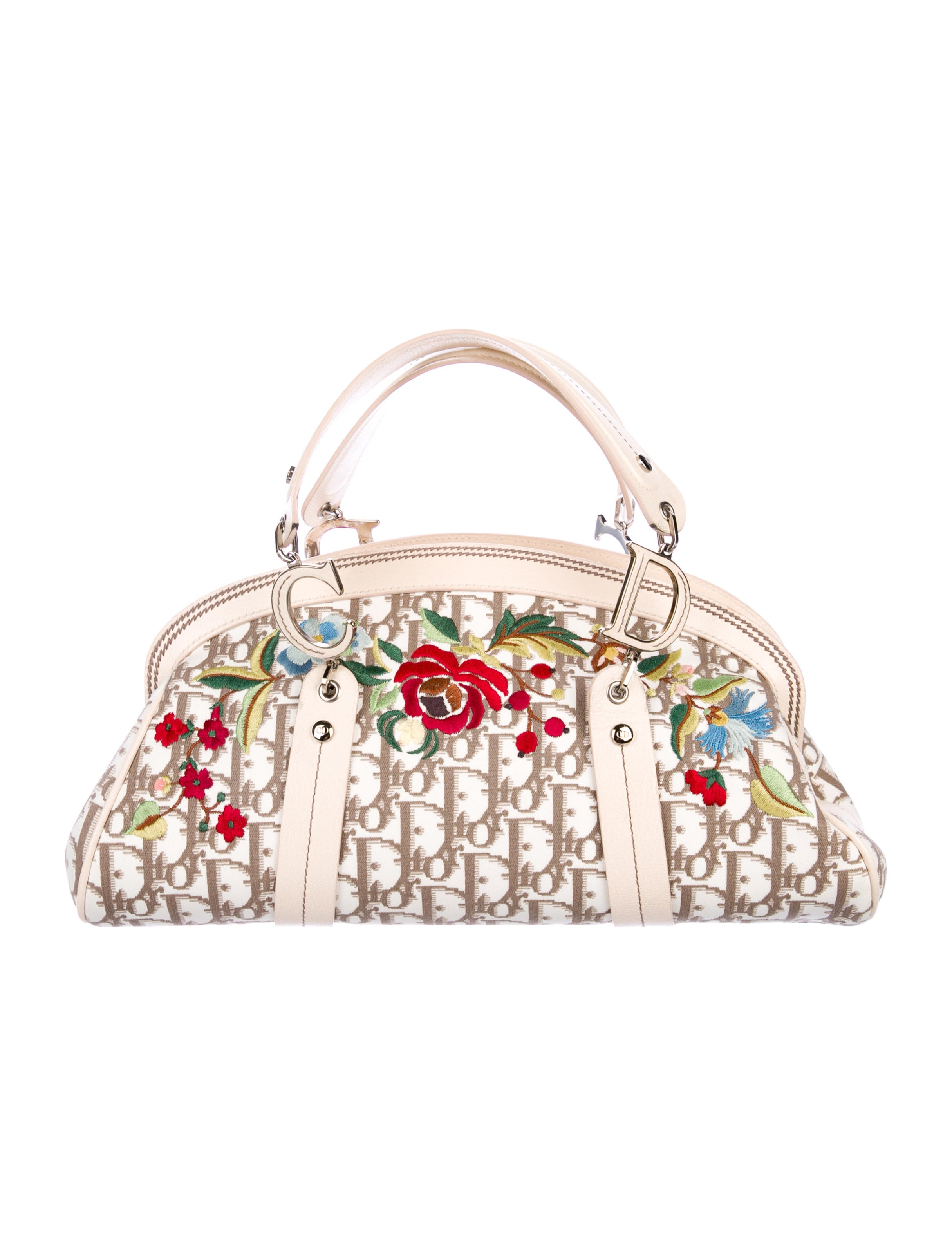 Vintage FlowersHandle Bag by Christian Dior