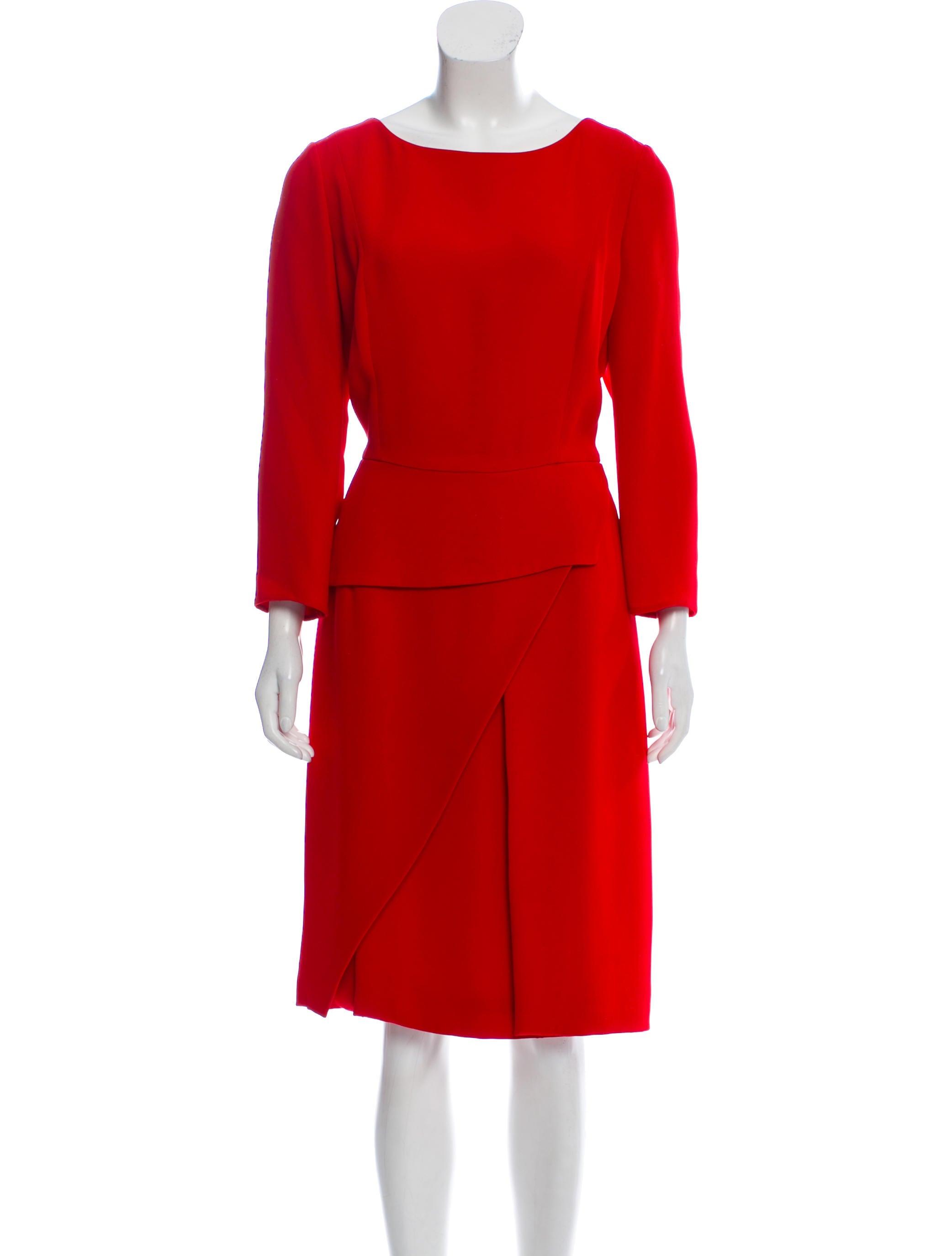 Silk Long Sleeve Midi Dress by Christian Dior