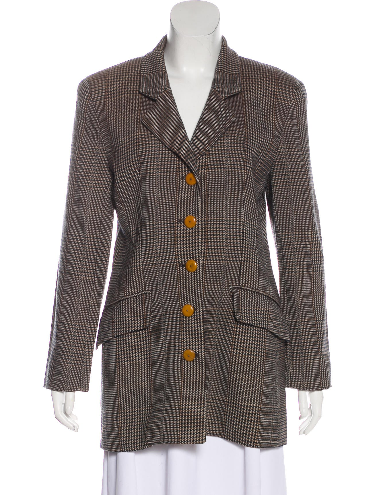 Wool Houndstooth Coat by Christian Dior