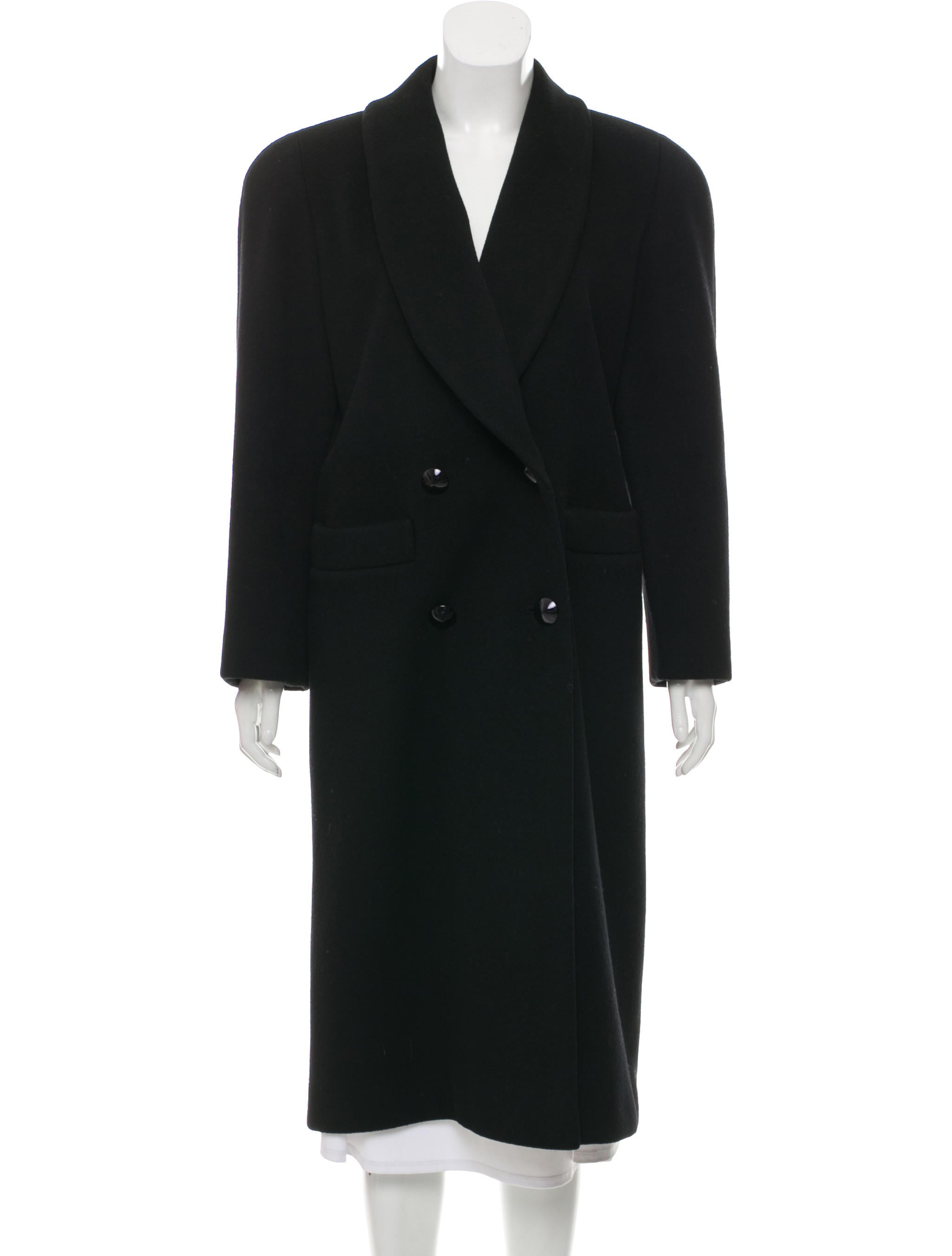 Vintage Wool Double Breasted Coat by Christian Dior