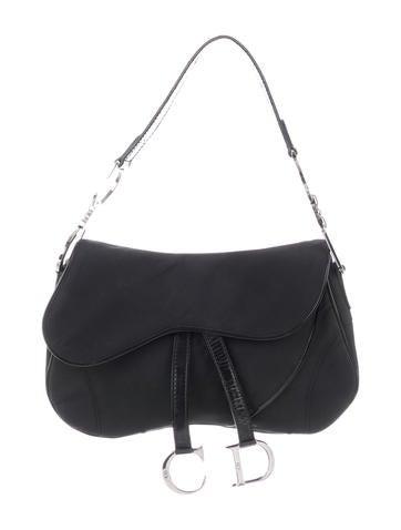 3b39ac2ec41 Christian Dior. Nylon Double Saddle Bag