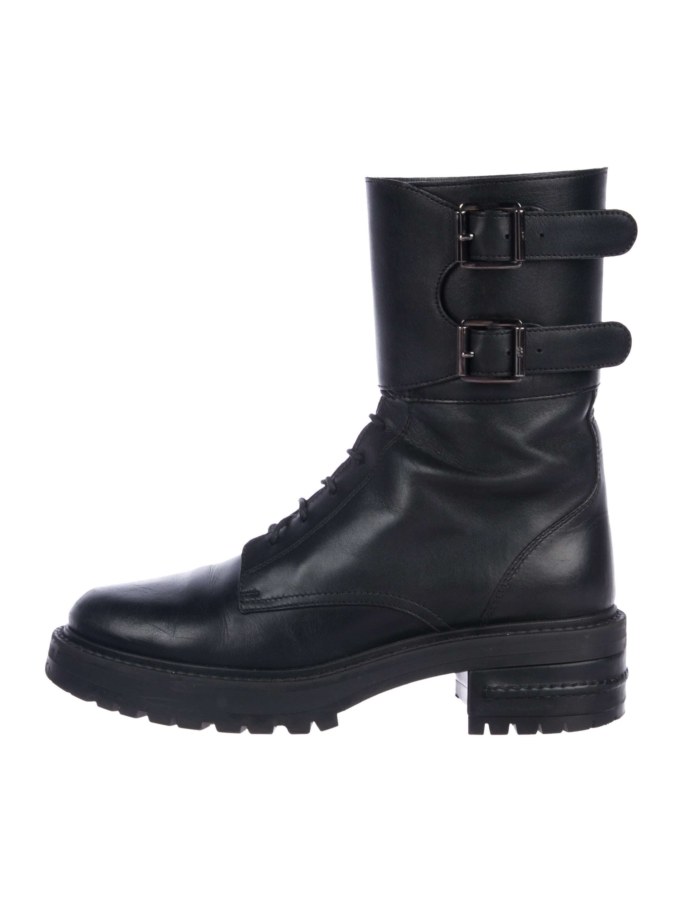 Leather Mid Calf Boots by Christian Dior