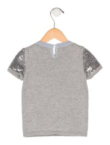 aeb9f161698 Christian Dior. Girls  Sequin-Embellished Wool Sweater