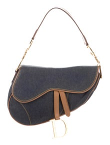 a3211654e161 Christian Dior. Denim Saddle Bag