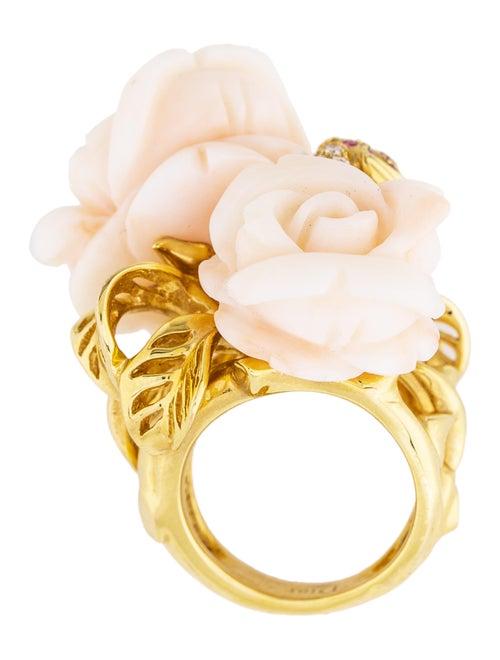 658931e1a6 Christian Dior 18K Coral, Pink Sapphire & Diamond Rose Dior Pré ...