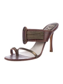 145387fd43a Christian Dior. Leather Thong Sandals