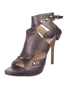 55d5f79e8fd Christian Dior. Metallic Ankle Strap Sandals