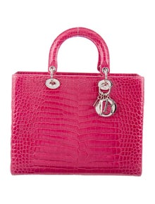 603f871c025 Christian Dior. Crocodile Large Lady Dior Bag