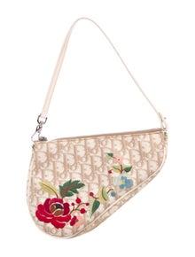 ad0df121808b Christian Dior. Embroidered Saddle Pochette
