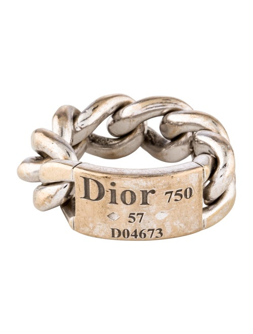 603ffb1f408 Christian Dior 18K Gourmette Link Ring - Rings - CHR99129 | The RealReal