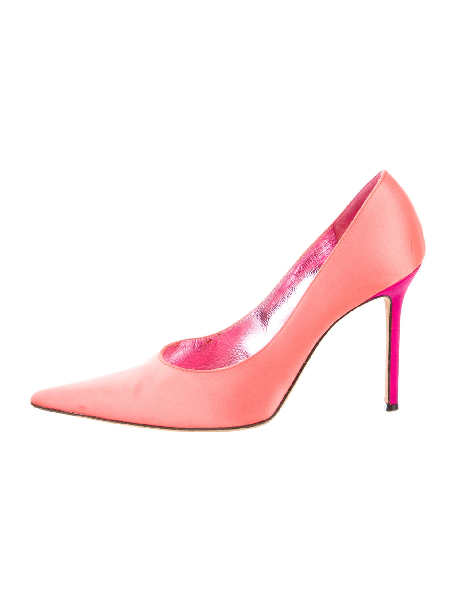 Christian Lacroix Satin Pointed Toe Pumps Shoes