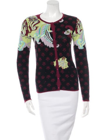 Wool Embroidered Cardigan