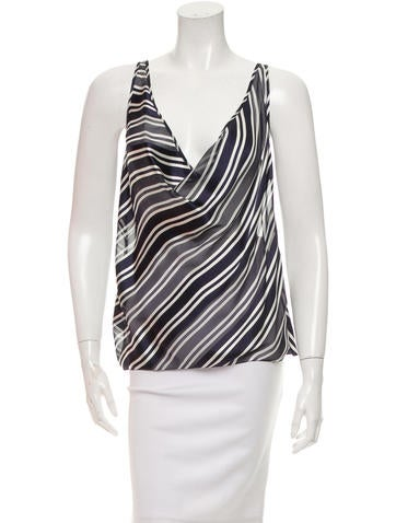 Christian Lacroix Striped Silk Top None