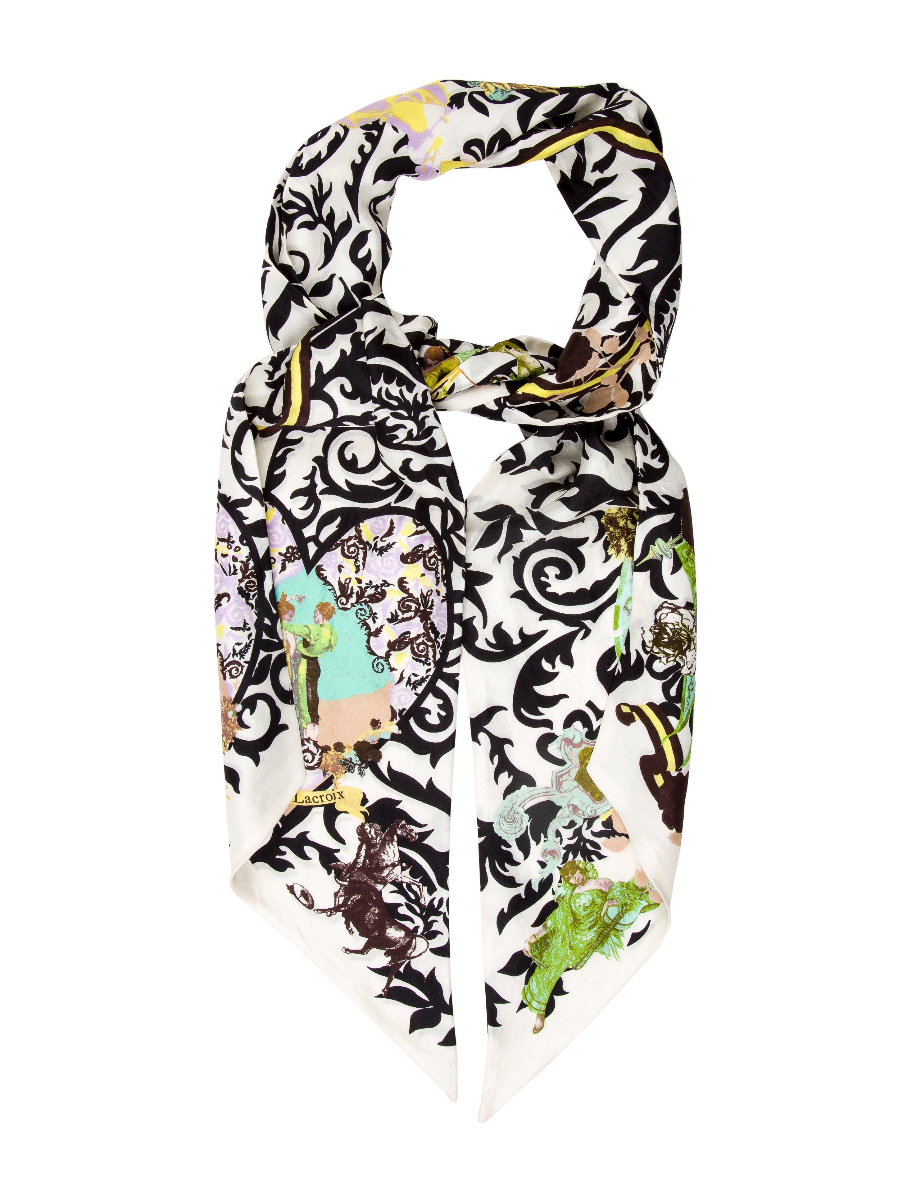 Christian lacroix multicolor printed scarf accessories chs21799 the rea - Christian lacroix accessories ...