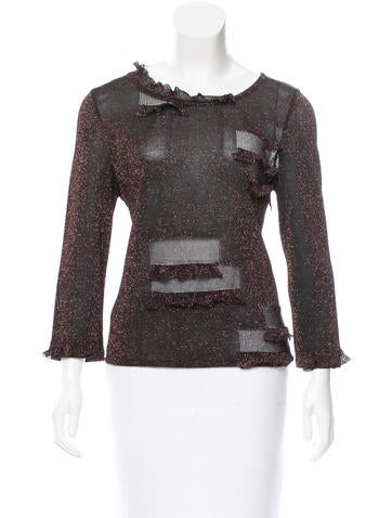 Christian Lacroix Ruffle-Accented Long Sleeve Top None