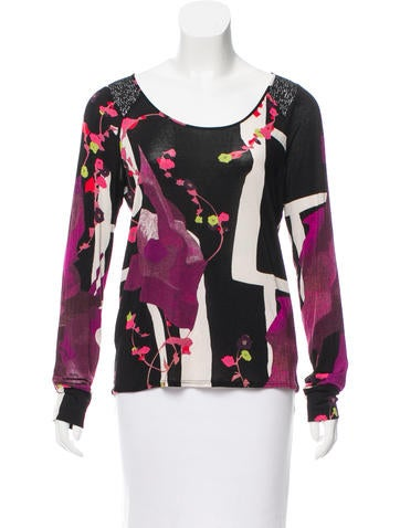 Christian Lacroix Sequin-Embellished Abstract print Top None