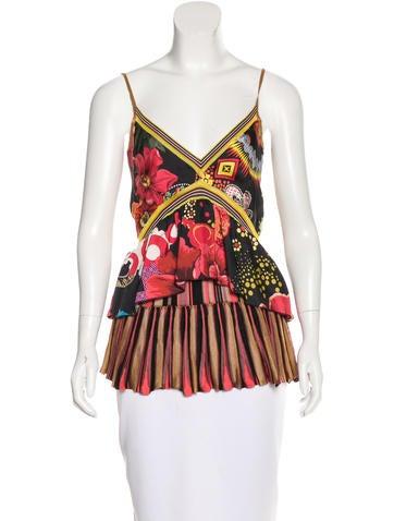 Christian Lacroix Floral Print Knit Top None