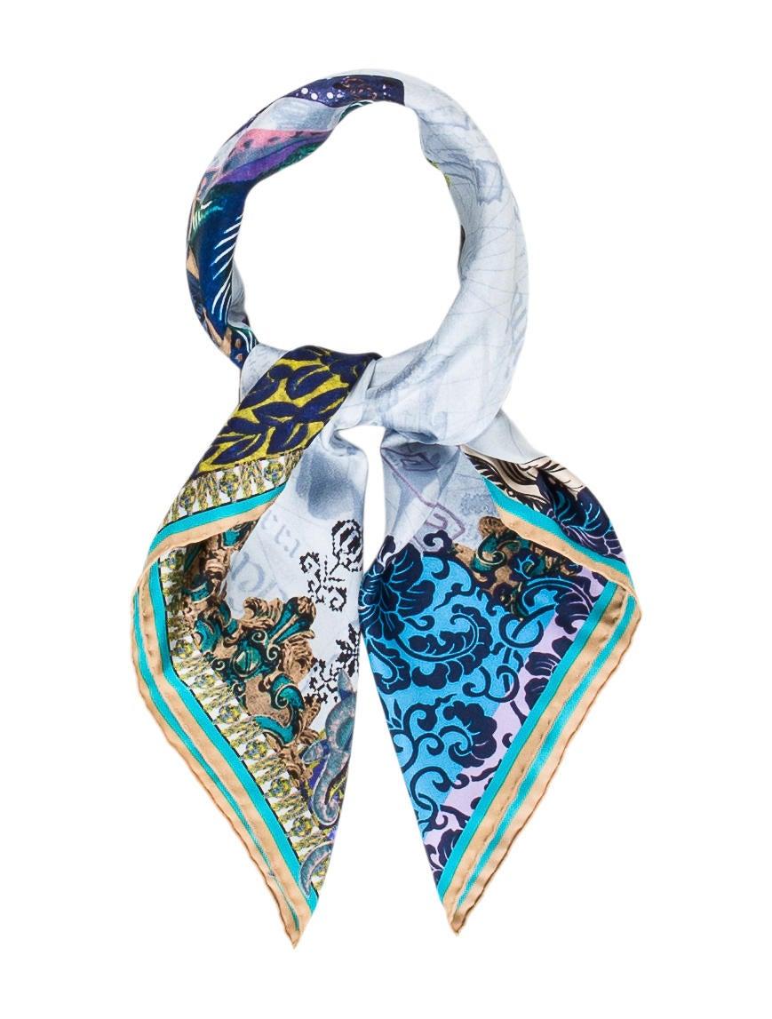 Christian lacroix silk woven scarf accessories chs21993 the realreal - Christian lacroix accessories ...