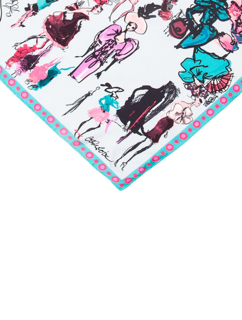 Christian lacroix multicolor printed scarf accessories chs21996 the rea - Christian lacroix accessories ...