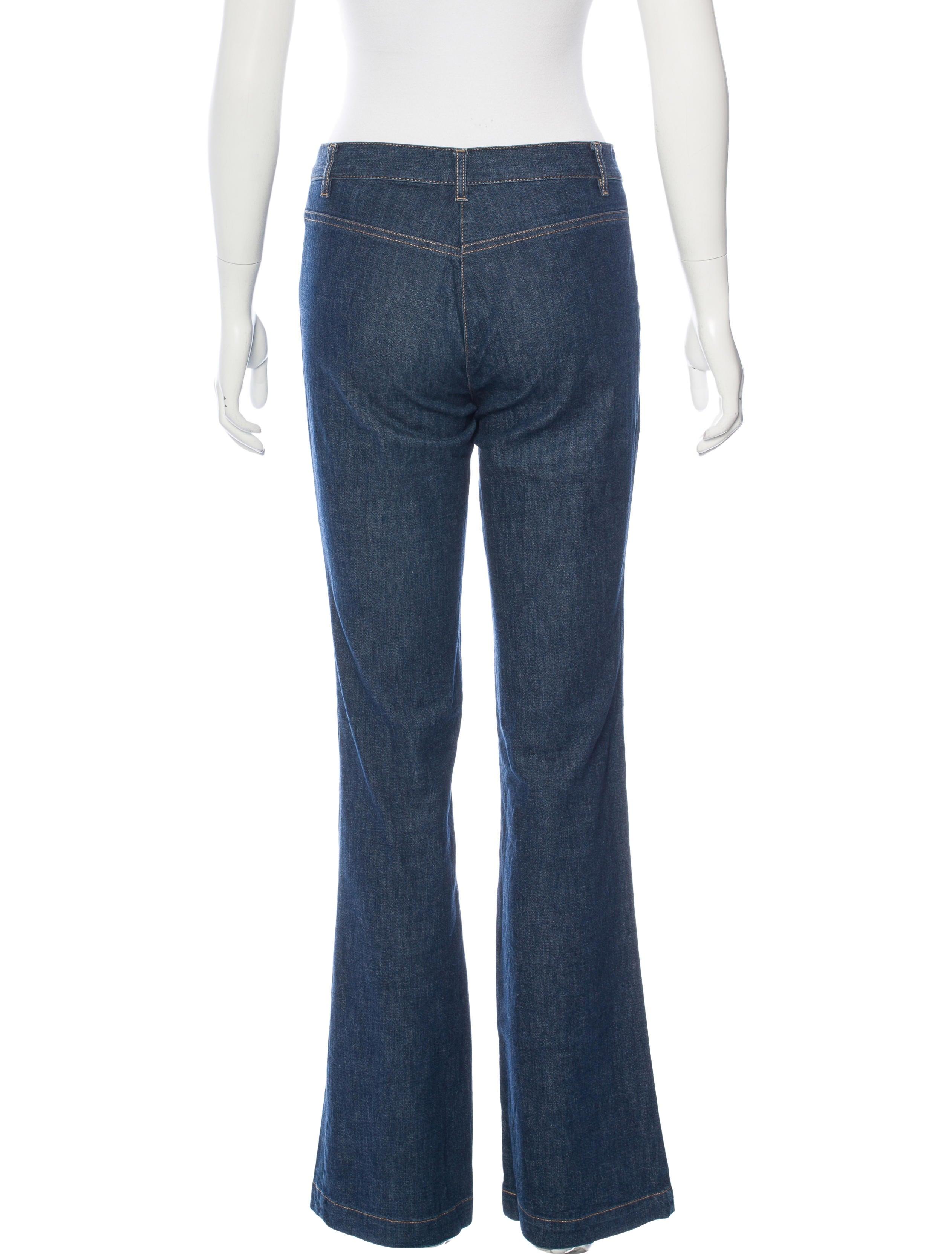 Christian Lacroix Mid Rise Wide Leg Jeans Clothing