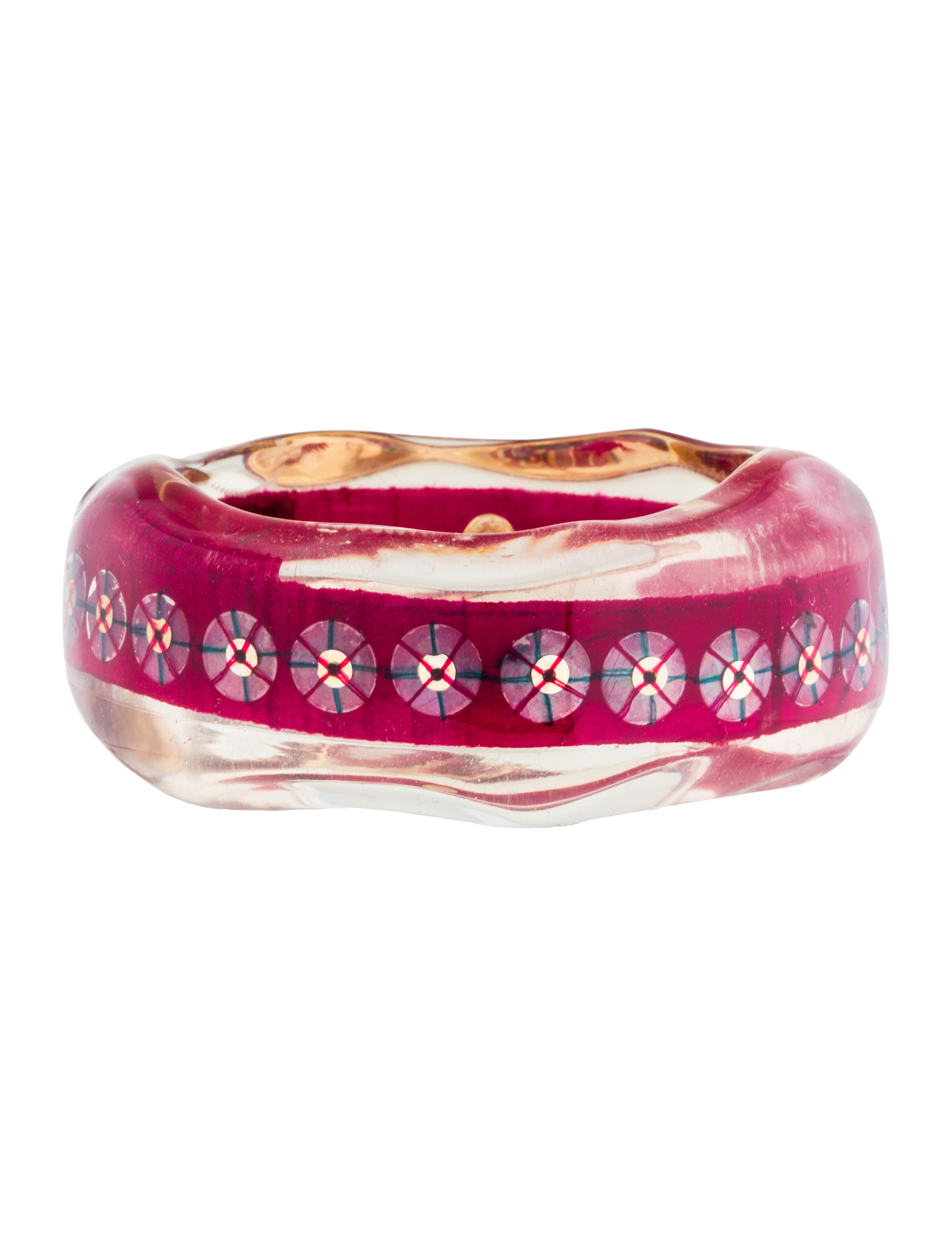 Christian Lacroix Large Resin Bangle Bracelets