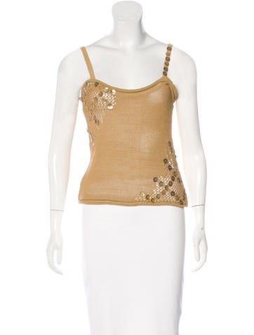 Christian Lacroix Bead-Embellished Knit Top None