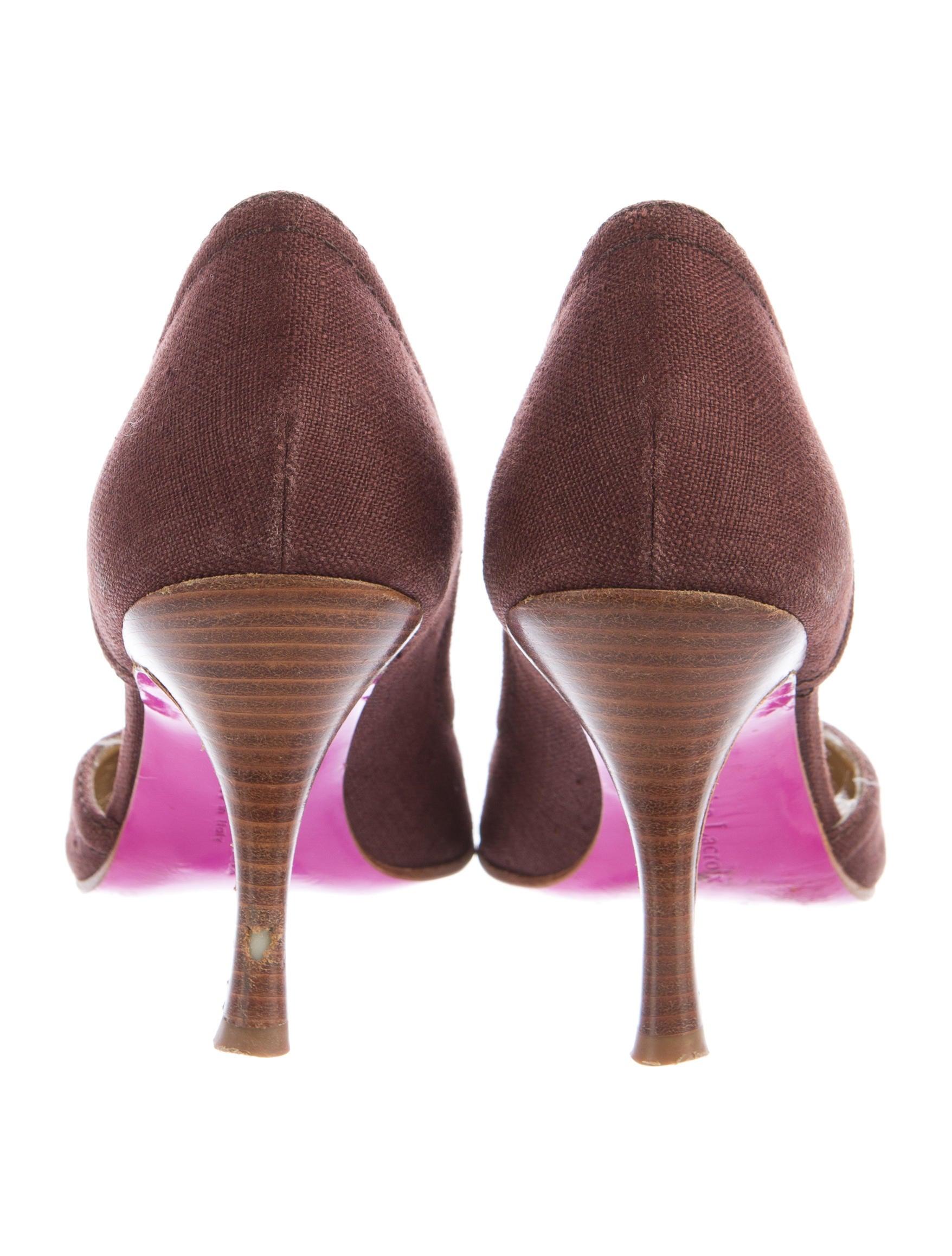 Christian Lacroix Canvas D Orsay Pumps Shoes Chs22173
